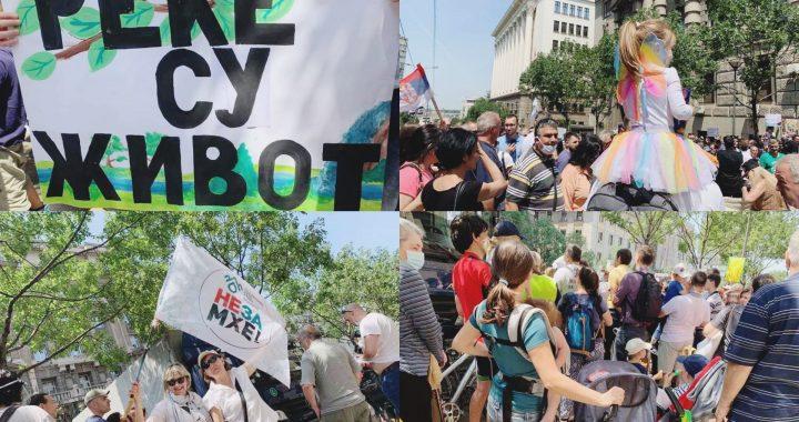 "Proglas protesta ""Naša voda, naš vazduh, naše šume – naša životna sredina"""