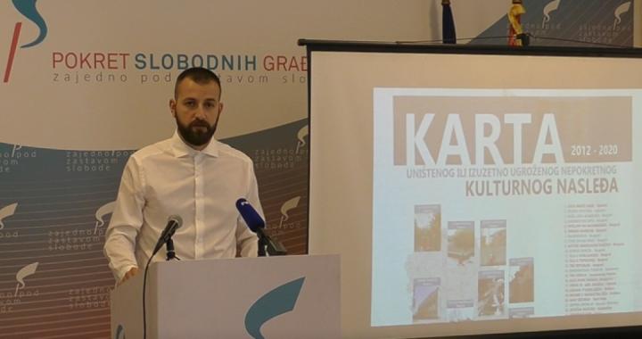Vladimir Pajić predstavio Kartu uništenog i ugroženog kulturnog nasleđa u Srbiji