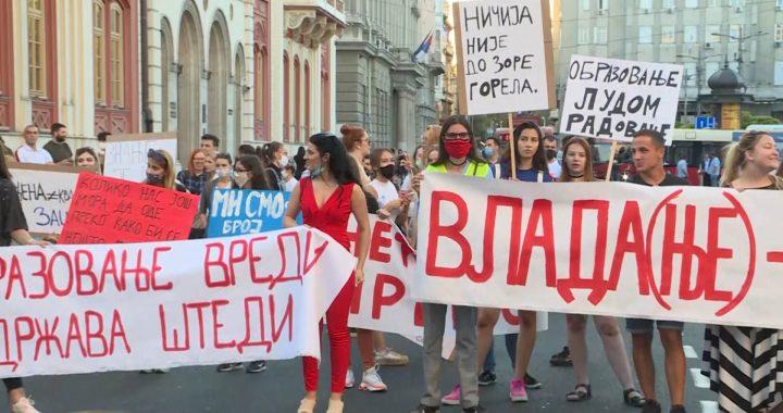 Protest studenata zbog školarina, dali rok do utorka