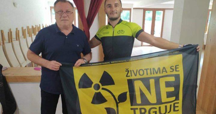 STOP radioaktivnom otpadu kraj Une – Biciklista Nenad Radoš alarmira javnost vožnjom kroz BiH